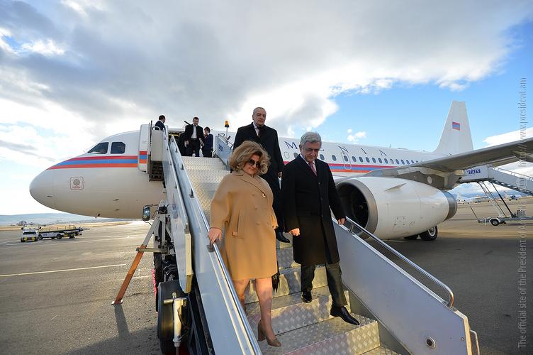 Նախագահ Սերժ Սարգսյանը պաշտոնական այցով ժամանել է Վրաստան