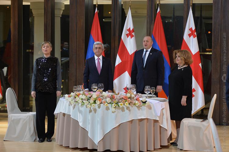 Ի պատիվ Նախագահ Սերժ Սարգսյանի` Վրաստանի նախագահի անունից տրվել է պաշտոնական ընդունելություն