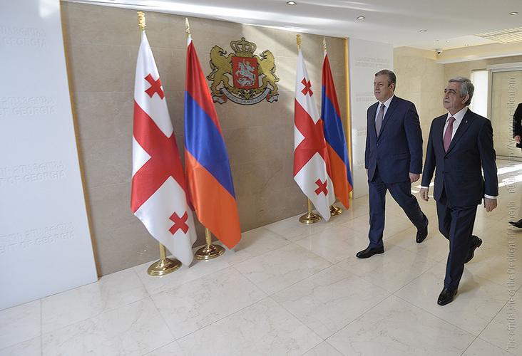 Սերժ Սարգսյանի պաշտոնական այցը Վրաստան ավարտվել է վարչապետ Գիորգի Կվիրիկաշվիլիի հետ հանդիպմամբ