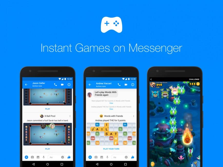 Facebook Messenger-ի միջոցով այսուհետ հնարավոր կլինի մոտ 50 խաղ խաղալ