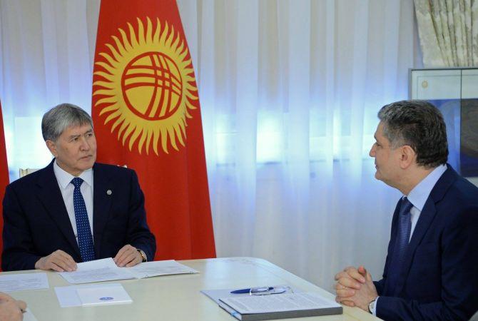 Տիգրան Սարգսյանը աշխատանքային հանդիպում Է ունեցել Ղրղզստանի նախագահի հետ