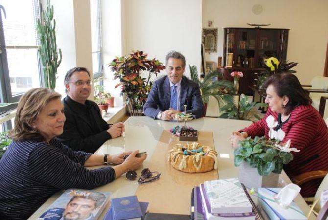 Իտալահայ գործարարը ցանկանում է Հայաստանում ներդրումներ իրականացնել