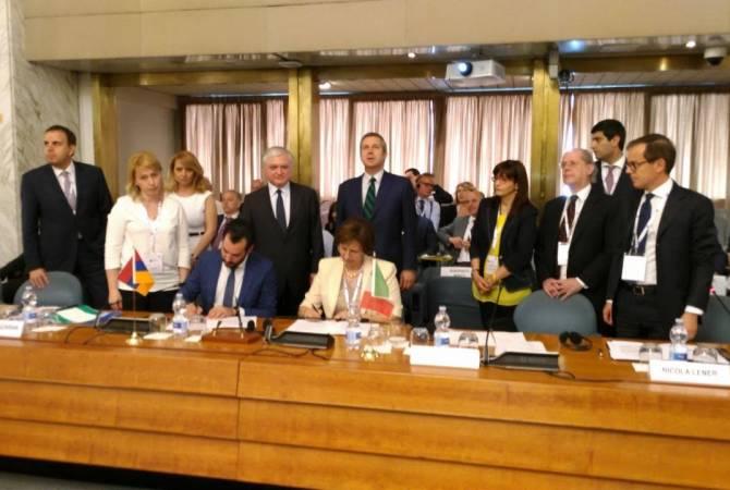Հայ-իտալական միջկառավարական հանձնաժողովի առաջին նիստի շրջանակում տեղի է ունեցել «Հայաստան-Իտալիա» գործարար համաժողով