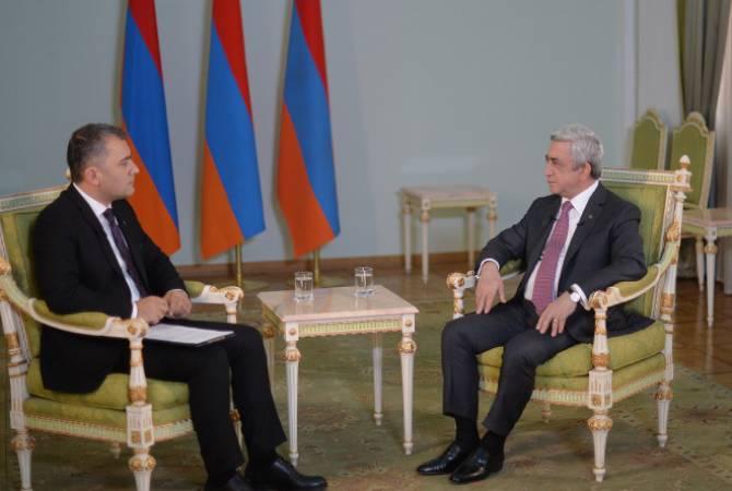 Արդյոք Սերժ Սարգսյանը կմնա քաղաքականության մեջ. նախագահի հարցազրույցը «Արմենիա» հեռուստաընկերությանը