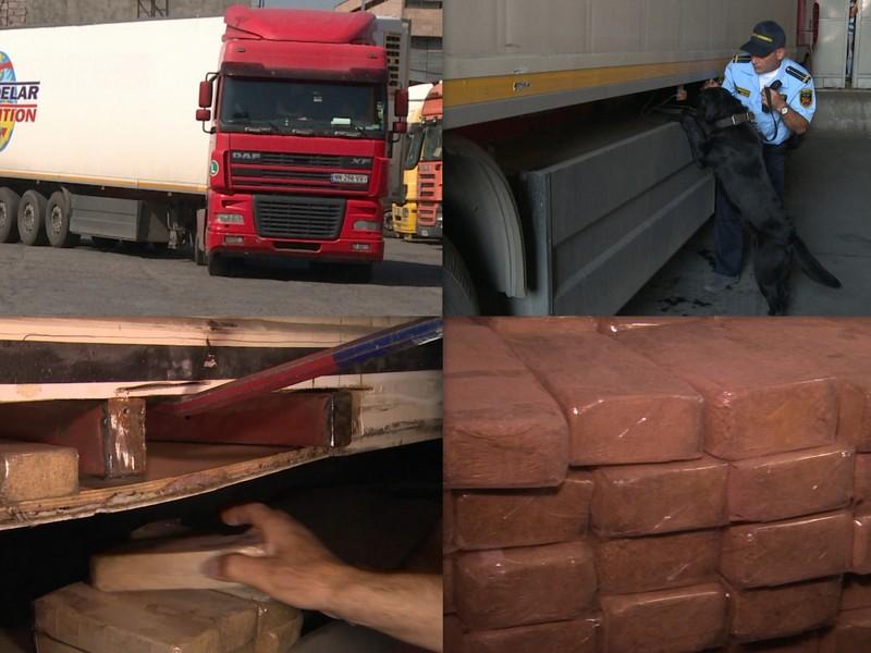 ՊԵԿ․ Մեղրիի մաքսակետում բեռնատարի թաքստոցից հայտնաբերվել է շուրջ 105 կգ «հերոին» տեսակի թմրանյութ