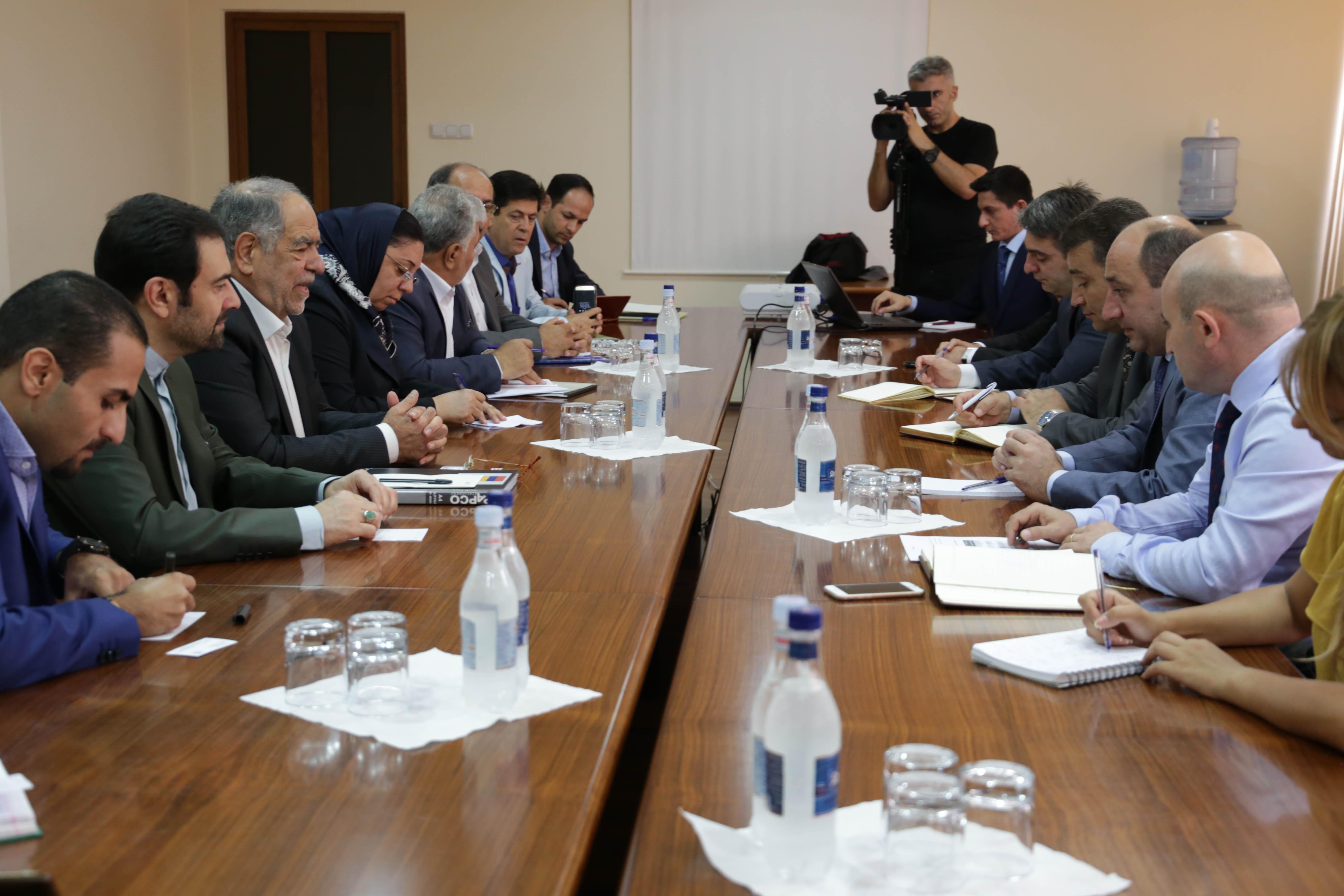 Սուրեն Կարայանը Իրանի նախագահի խորհրդականը քննարկել են տնտեսական օրակարգը և ազատ տնտեսական գոտիների համագործակցությունը