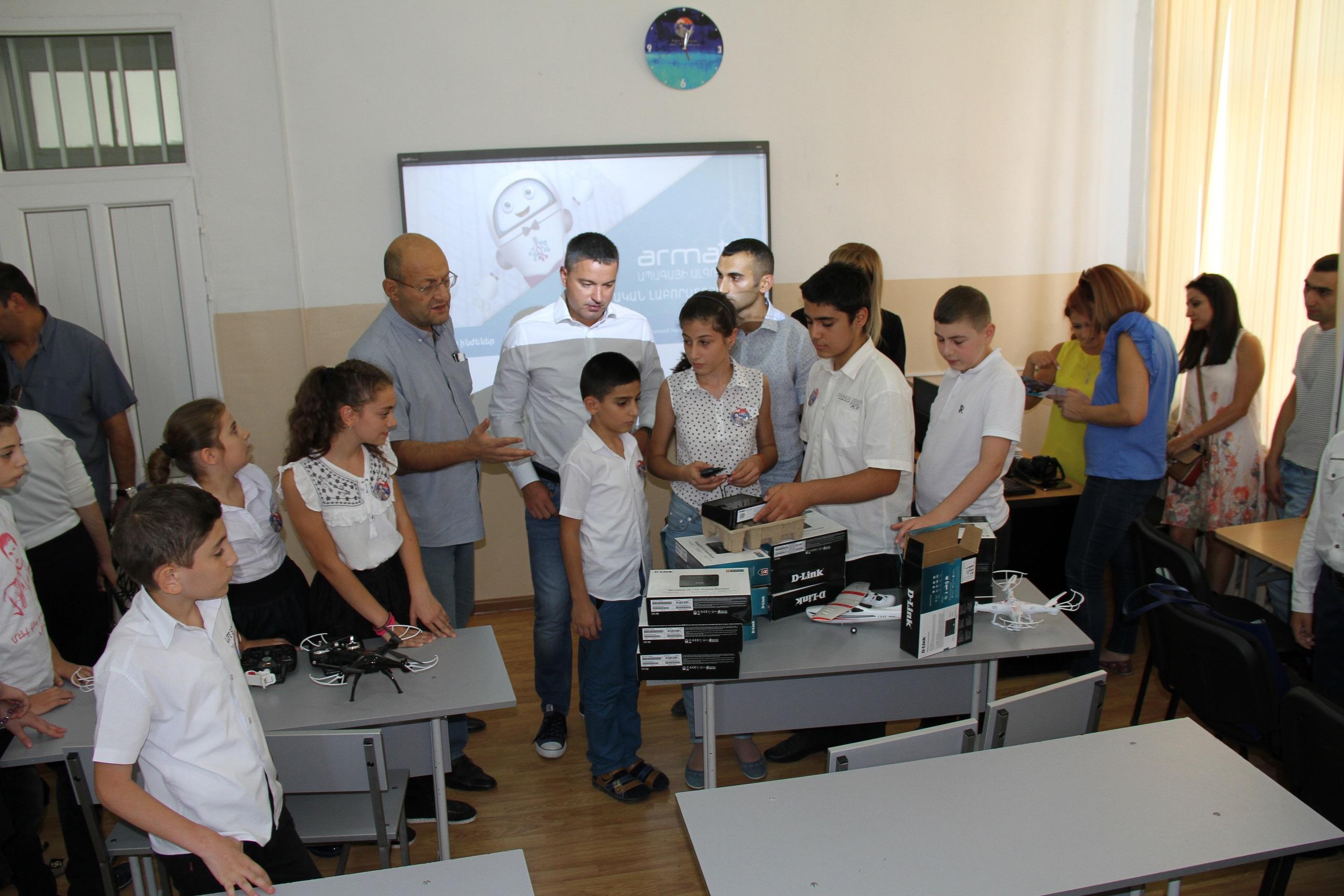 Beeline. WiFi սարքավորումներ` 173 դպրոցի «Արմաթ» լաբորատորիային