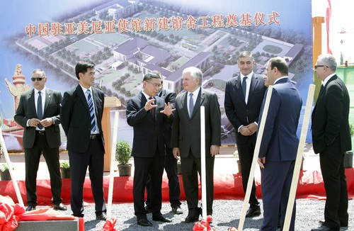 Հայաստանում կառուցվում է Չինաստանի նոր դեսպանատուն
