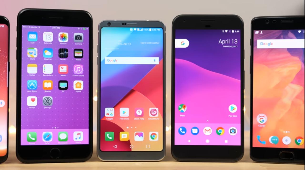 Որն է ամենաարագագործ սմարթֆոնը՝ Samsung Galaxy S8, Apple iPhone 7 Plus, LG G6, Google Pixel, թե OnePlus 3T
