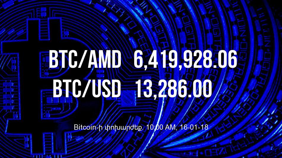 Bitcoin-ի փոխարժեքը նվազել է - 16/01/18