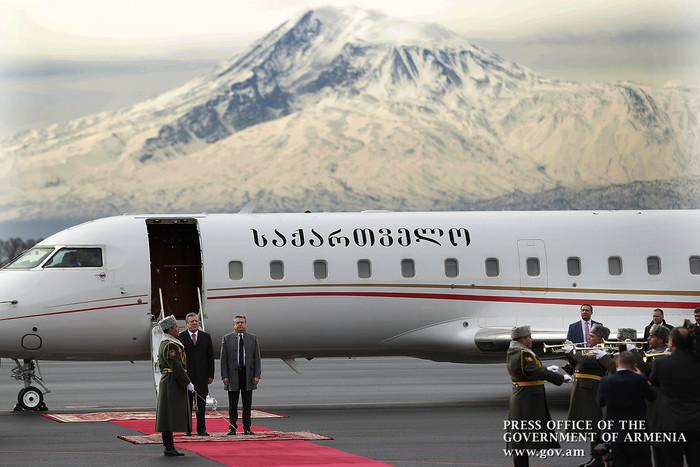 Պաշտոնական այցով Հայաստան է ժամանել Վրաստանի վարչապետ Գիորգի Կվիրիկաշվիլին