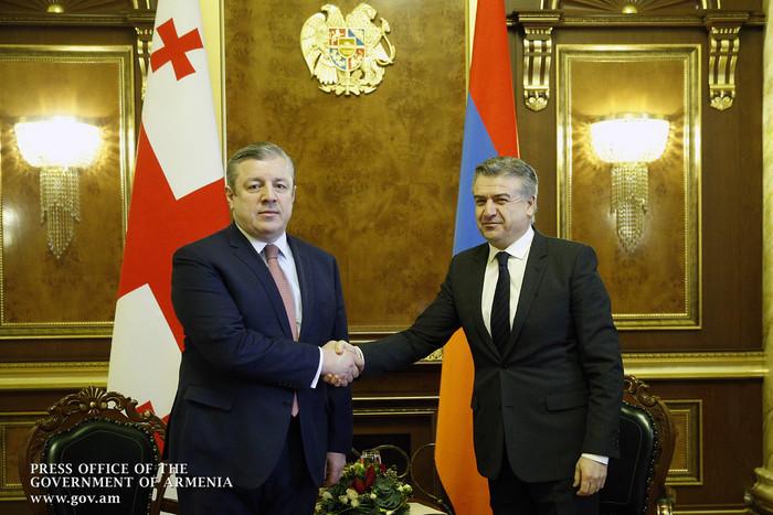 Երևանում կայացել են Կարեն Կարապետյանի և Գիորգի Կվիրիկաշվիլիի բանակցությունները