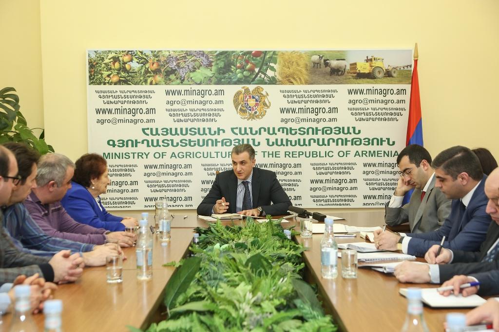 ՀՀ գյուղատնտեսության նախարարությունում քննարկվել են անասնաբուծության զարգացմանն առնչվող հարցեր