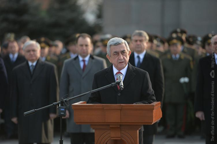 Նախագահ Սերժ Սարգսյանի շնորհավորական ուղերձը Բանակի օրվա առթիվ