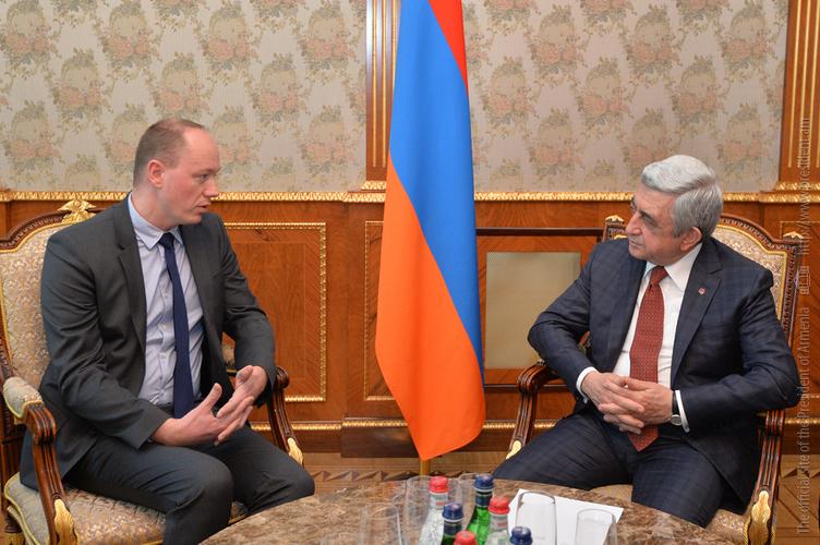 Սերժ Սարգսյանն ընդունել է ԱՄՀ հոլանդաբելգիական ենթախմբի գործադիր տնօրենին