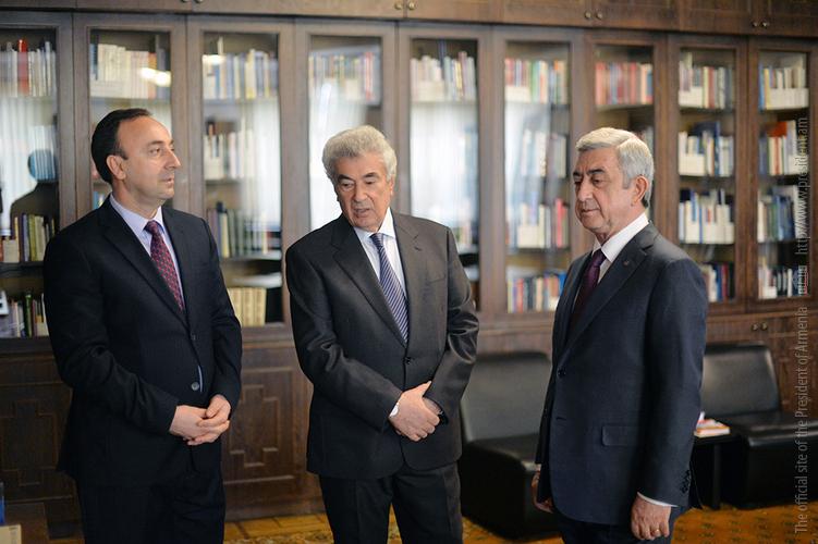 Սերժ Սարգսյանը ներկա է գտնվել ՍԴ նիստերի սրահի անվանակոչության արարողությանը