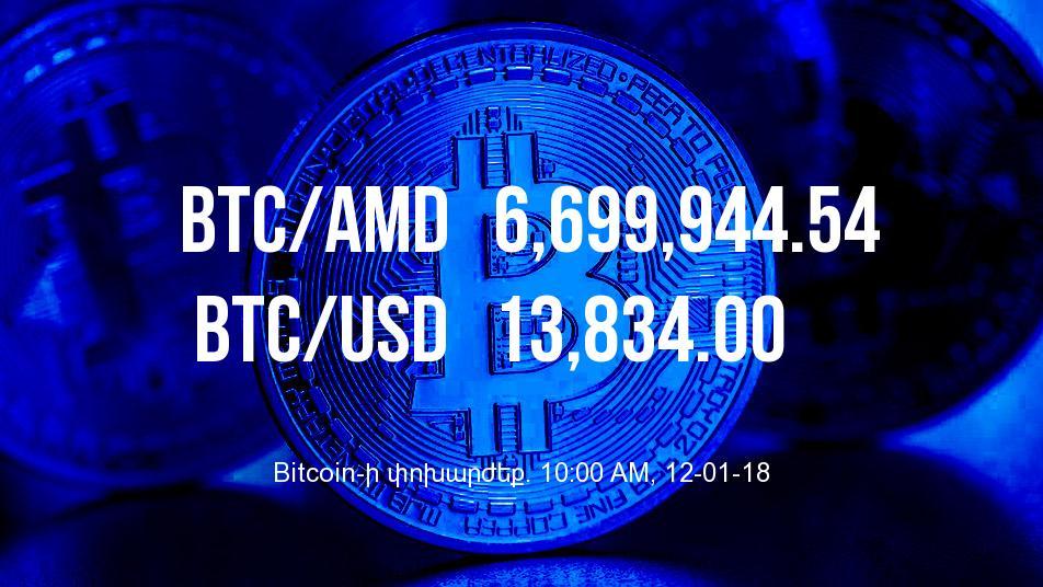 Bitcoin-ի փոխարժեքն աճել է - 12/01/18