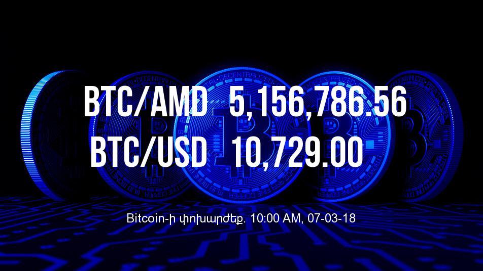 Bitcoin-ի փոխարժեքը նվազել է - 07/03/18