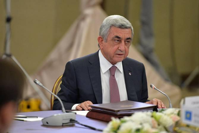 Սերժ Սարգսյանն արդարացված է համարում ԵԱՏՄ-ին միանալու Հայաստանի որոշումը