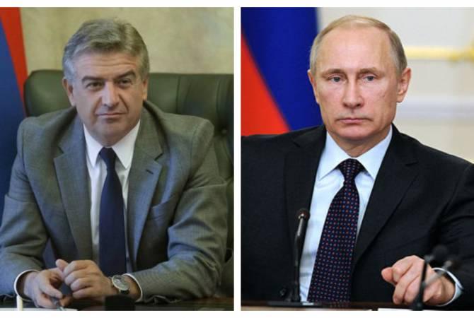 Կարեն Կարապետյանը և ՌԴ նախագահ Վլադիմիր Պուտինը հեռախոսազրույց են ունեցել