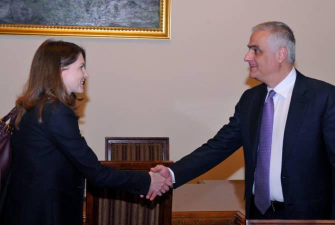 Մհեր Գրիգորյանը հանդիպել է Հայաստանում ԱՄՀ-ի մշտական ներկայացուցչի հետ
