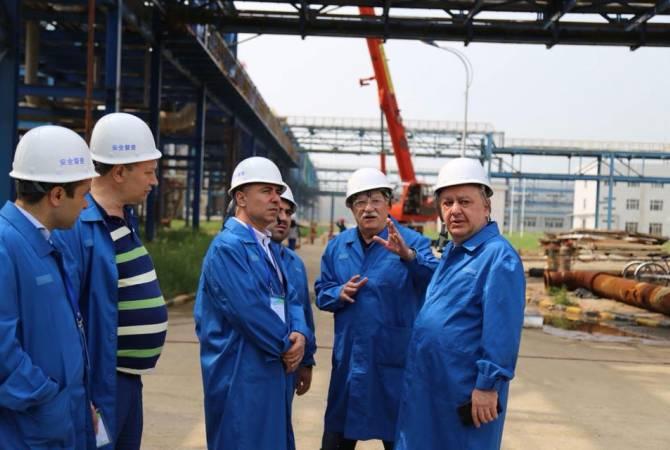 Արթուր Գրիգորյանի գլխավորած պատվիրակությունը ՉԺՀ-ում այցելել է «Շանսի-Նաիրիտ» համատեղ ձեռնարկություն