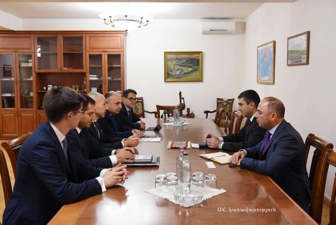 Արցախի պետնախարարը հանդիպել է ԵՄ-ում գրանցված ներդրումային ընկերության ներկայացուցիչներին