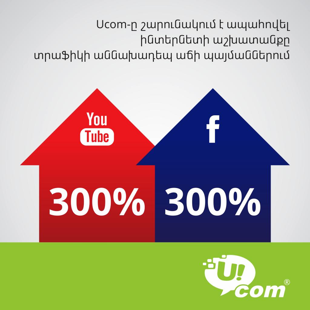 Ucom. ինտերնետի ապահով աշխատանք՝ տրաֆիկի աննախադեպ աճի պայմաններում