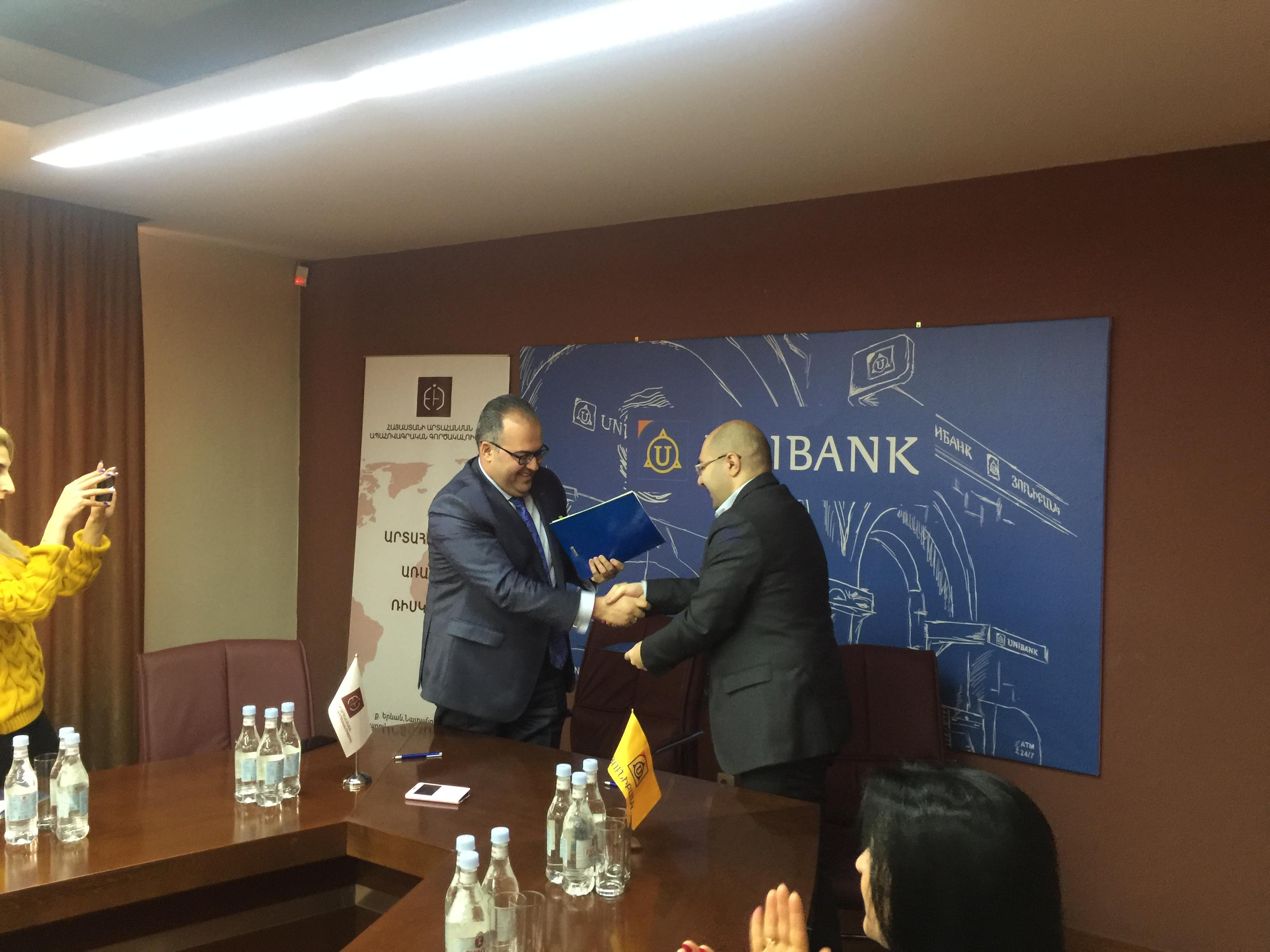 Յունիբանկը և Հայաստանի արտահանման ապահովագրական գործակալությունը կաջակցեն արտահանող ՓՄՁ-ներին