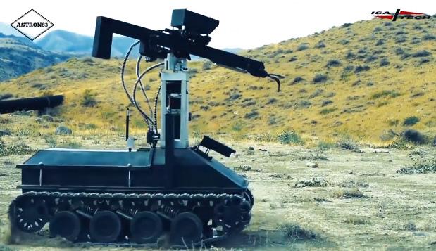 Հայկական առաջին ռազմական ռոբոտի փորձարկումները. տեսանյութ