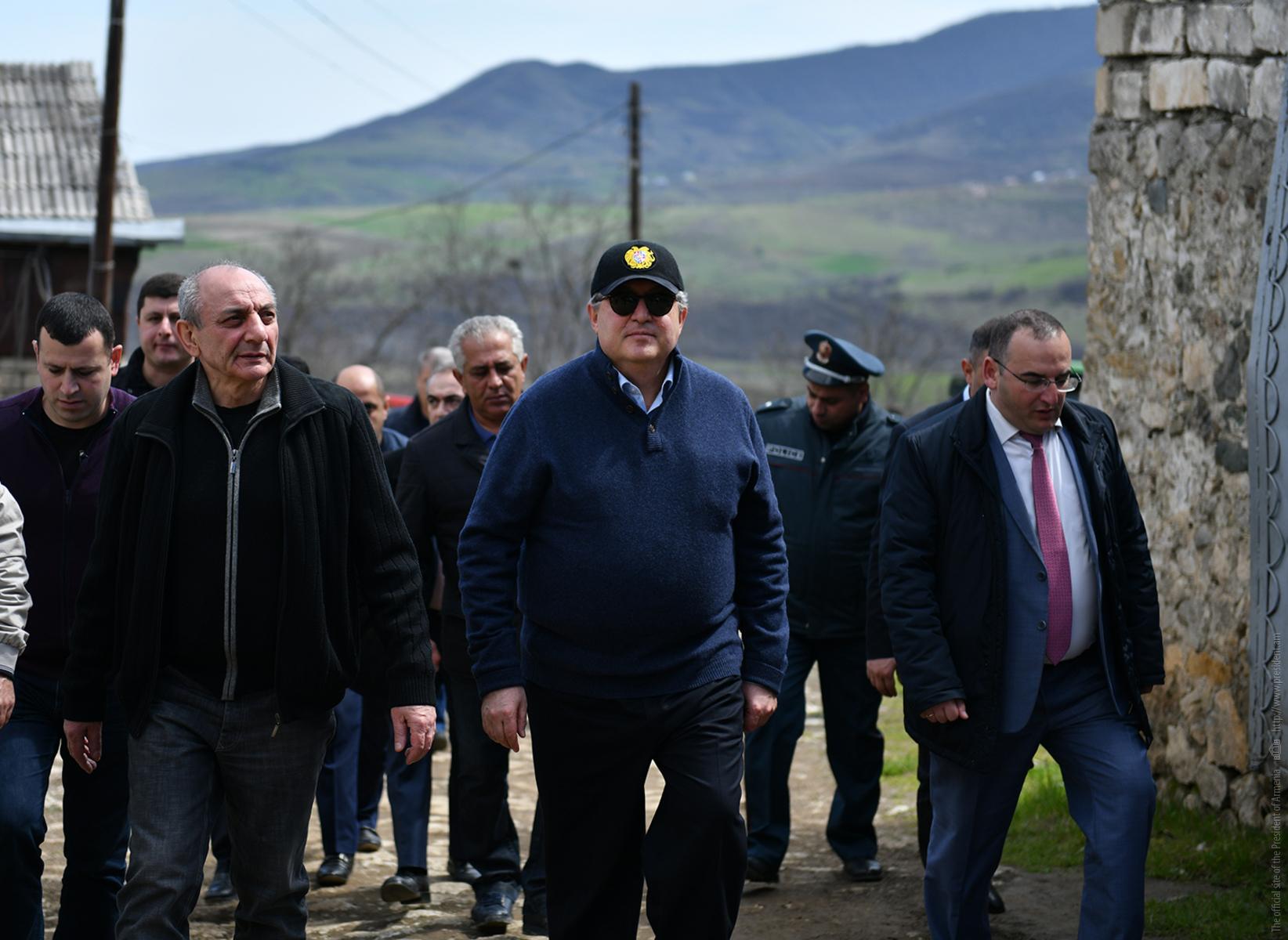 Հայաստանի և Արցախի նախագահներն այցելել են «Կատարո» գինու գործարան