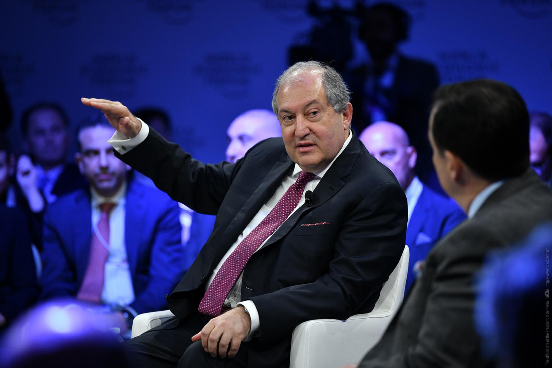 Նախագահ Արմեն Սարգսյանը Համաշխարհային տնտեսական համաժողովում խոսել է Հայաստանի էներգետիկ ռեսուրսների մասին