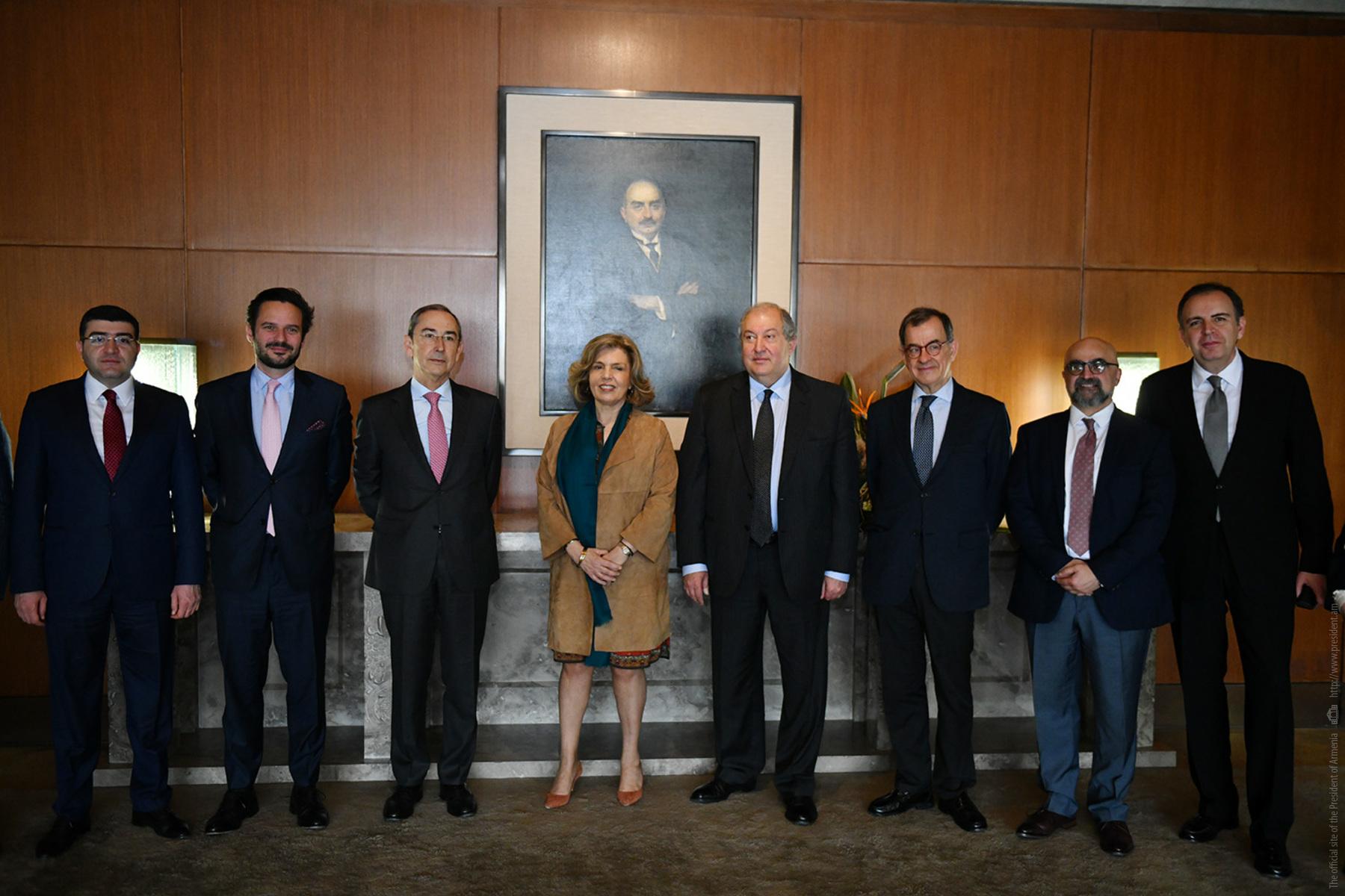 Արմեն Սարգսյանը «Գալուստ Գյուլբենկյան» հիմնադրամի ղեկավարությանն առաջարկել է ընդլայնել Հայաստանում իրականացվող ծրագրերը