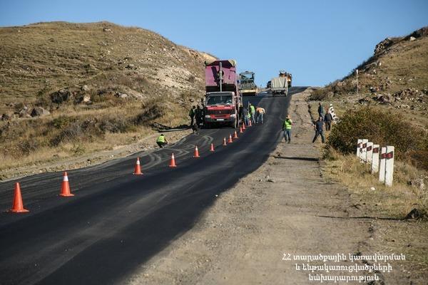 Սուրեն Պապիկյանը հետևել է 384․3 կմ երկարությամբ Երևան-Մեղրի միջպետական նշանակության ավտոճանապարհի շինաշխատանքներին