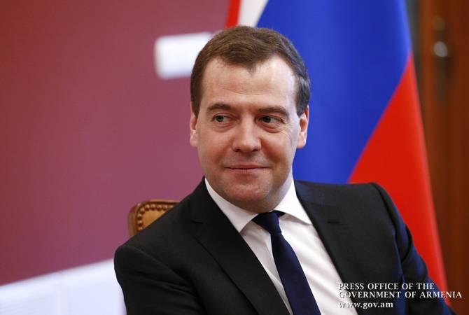 ՌԴ վարչապետ Դմիտրի Մեդվեդևը ժամանեց Երևան