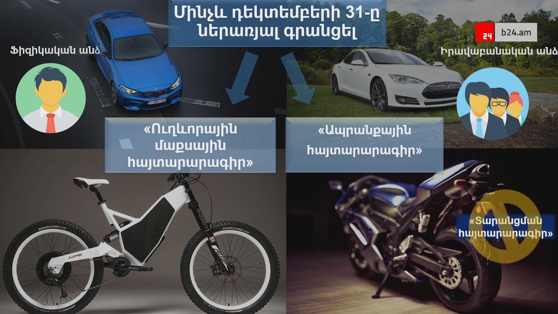 ՊԵԿ. Ի՞նչ պետք է իմանա բացառապես էլեկտրական շարժիչով ավտոմեքենա, մոտոցիկլետ և հեծանիվ ներմուծողը