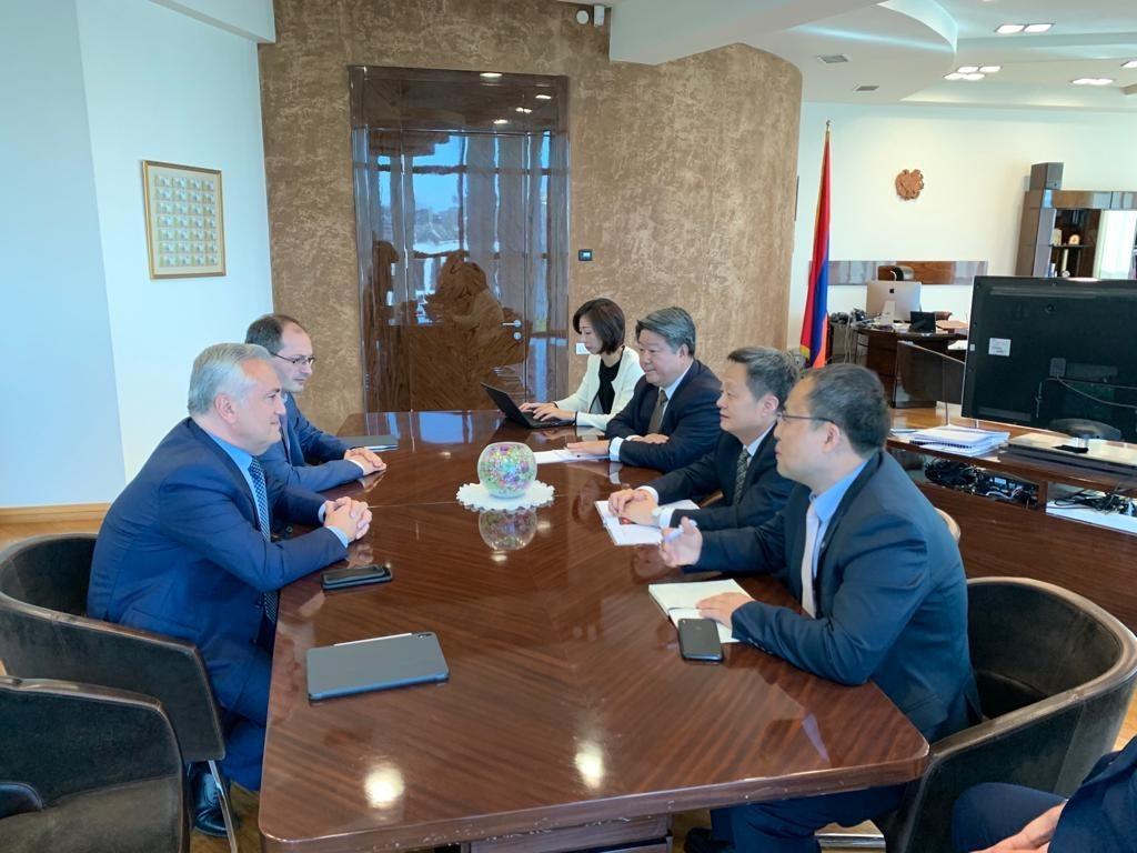 Կենտրոնական բանկ. Արթուր Ջավադյանի հանդիպումը China Union Pay կազմակերպության խորհրդի նախագահի հետ