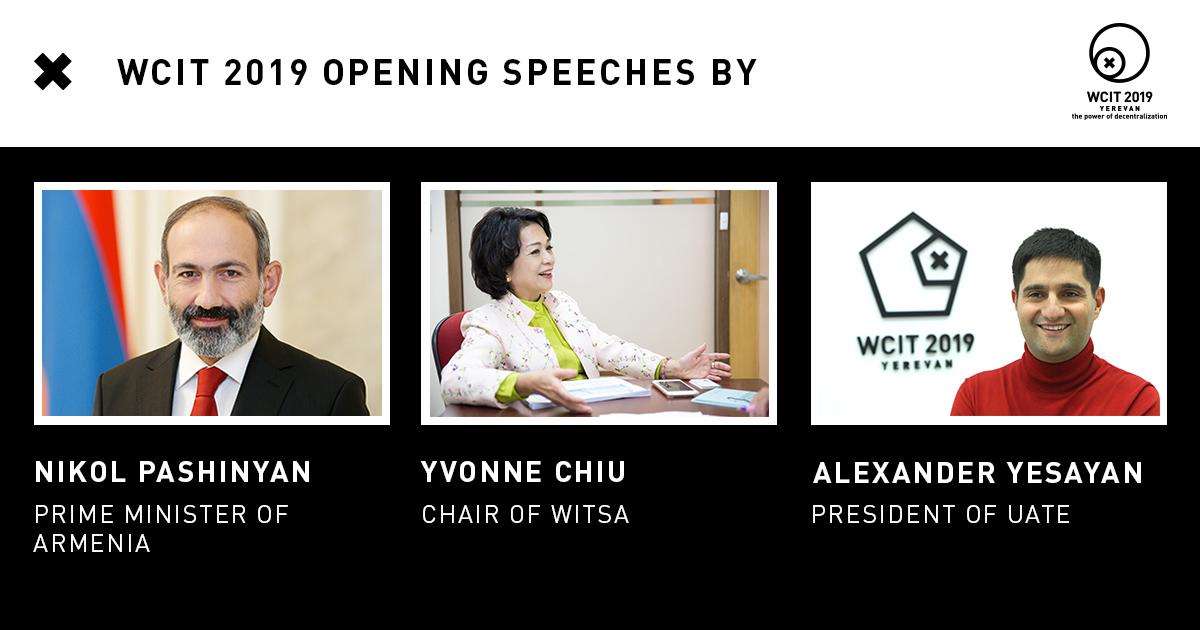 «WCIT 2019» հայտարարում է բացման բանախոսների անունները
