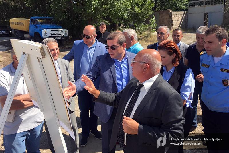 ՊԵԿ. Դավիթ Անանյանն այցելել է Գյումրիում կառուցվող նոր ավտոմաքսատան տարածք