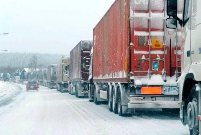 Լարսի ռուսական կողմում կա կուտակված մոտ 1000 բեռնատար ավտոմեքենա