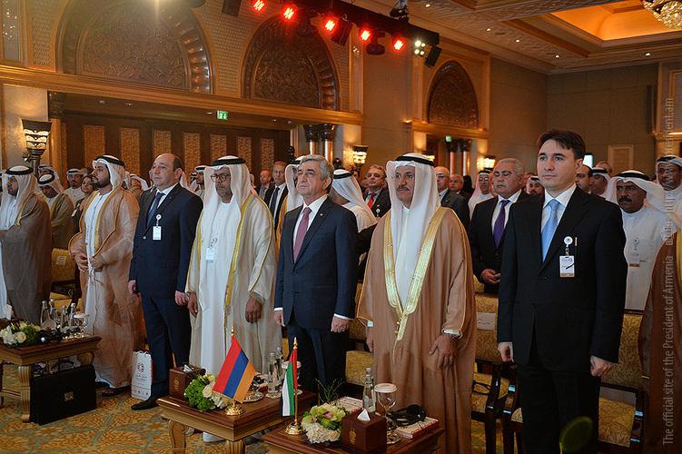 Նախագահ Սարգսյանի մասնակցությամբ Աբու Դաբիում անցկացվում է «Հայաստան-Արաբական Միացյալ Էմիրություններ» ներդրումային համաժողովը