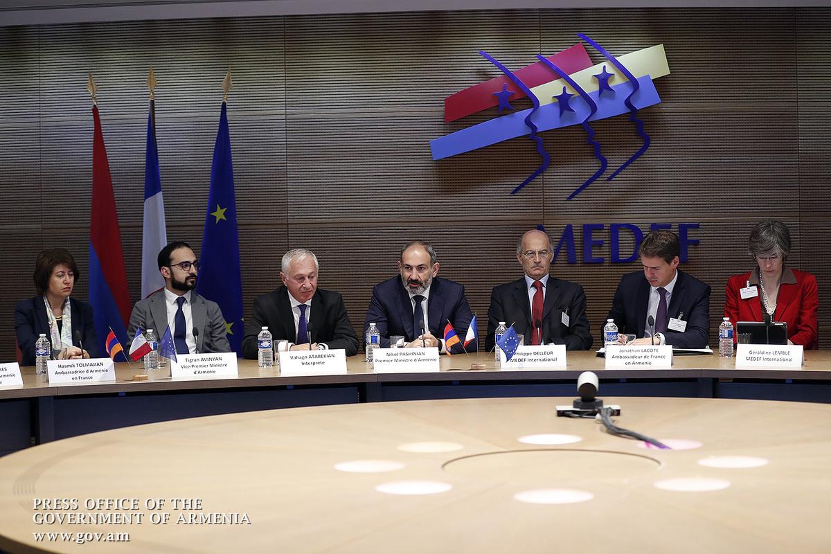 Նիկոլ Փաշինյանը Փարիզում հանդիպել է MEDEF-ի ներկայացուցիչներին