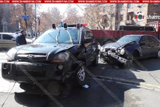 Վարչապետ Կարապետյանի անվտանգության աշխատակիցների մեքենան վթարի է ենթարկվել