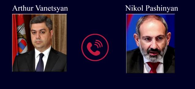Գաղտնալսվել է Նիկոլ Փաշինյանի և Արթուր Վանեցյանի հեռախոսազրույցը