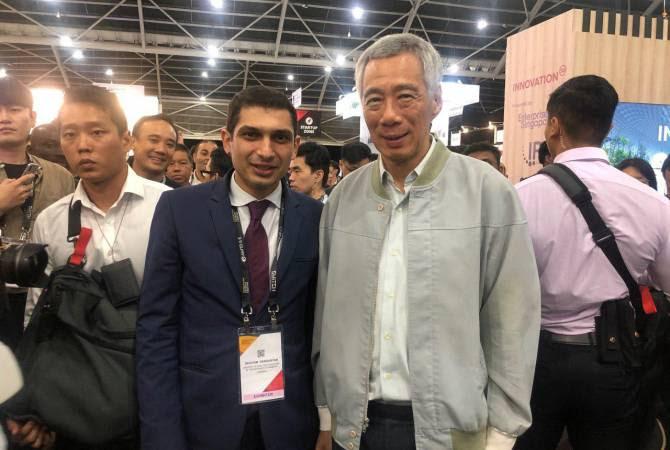 «SWITCH 2019» ցուցահանդեսի Հայաստանի տաղավար է այցելել Սինգապուրի վարչապետը